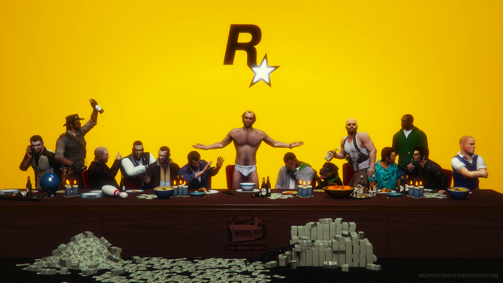 Gta 5 rockstar games mannequin challenge youtube - Last supper 4k ...